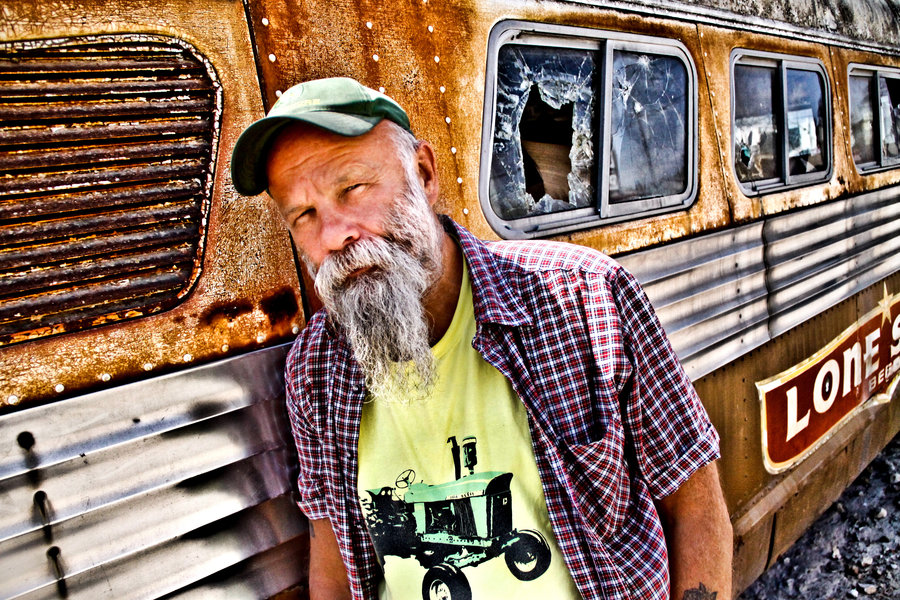 Seasick Steve photoshoot at the BrokenSpoke in Austin, Texas on March 18th, 2011.